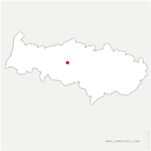carte de localisation de Génicourt