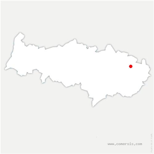 carte de localisation de Jagny-sous-Bois