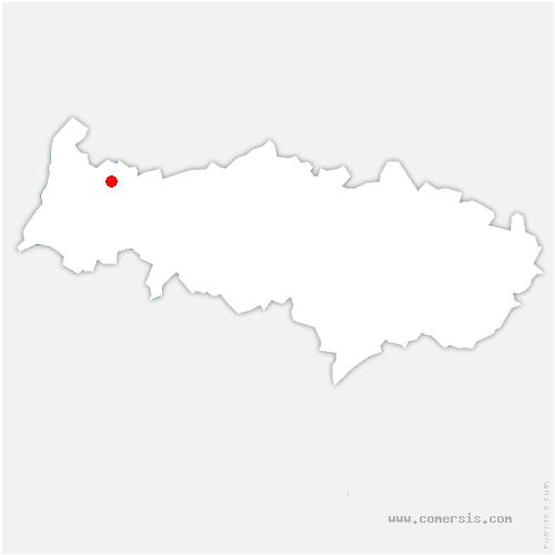 carte de localisation de Magny-en-Vexin