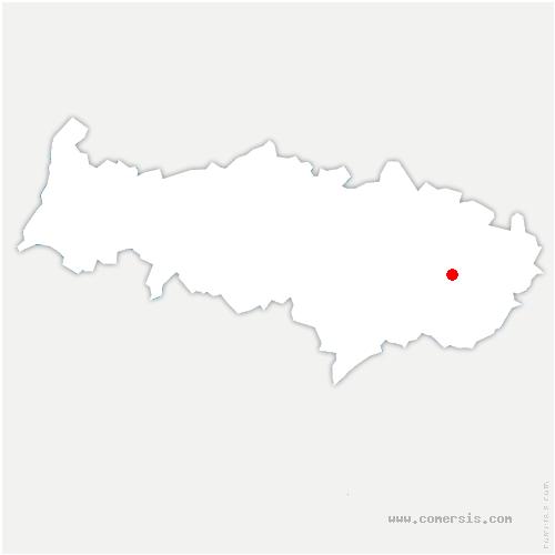 carte de localisation de Mesnil-Aubry
