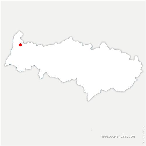 carte de localisation de Montreuil-sur-Epte