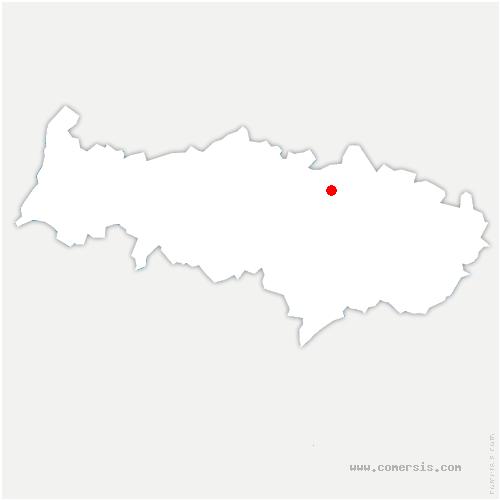 carte de localisation de Mours