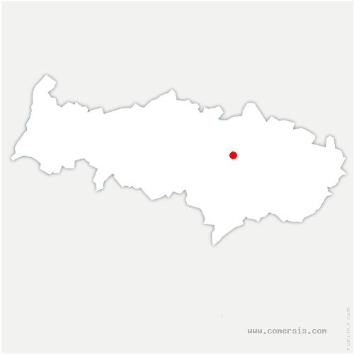 carte de localisation de Nerville-la-Forêt