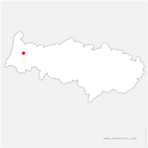 carte de localisation de Omerville