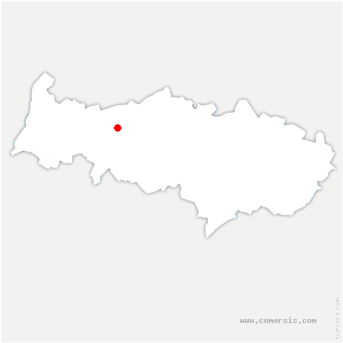carte de localisation de Perchay