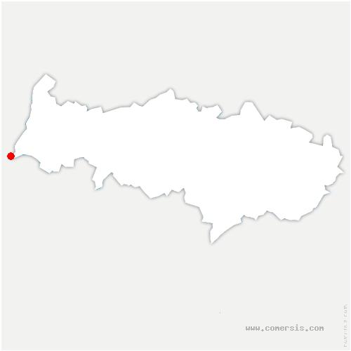 carte de localisation de Roche-Guyon