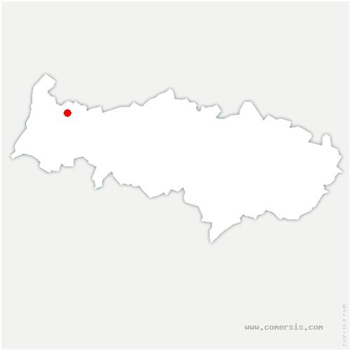 carte de localisation de Saint-Gervais