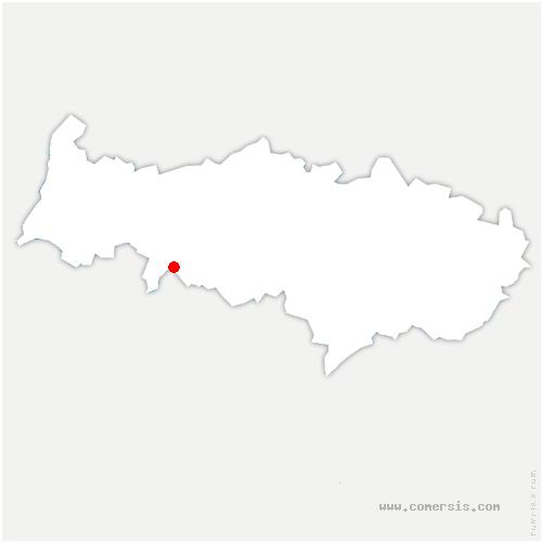 carte de localisation de Seraincourt