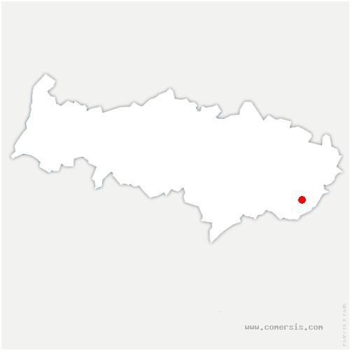 carte de localisation de Thillay