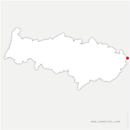 carte de localisation de Vémars