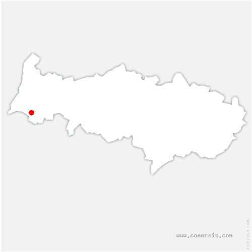 carte de localisation de Vienne-en-Arthies