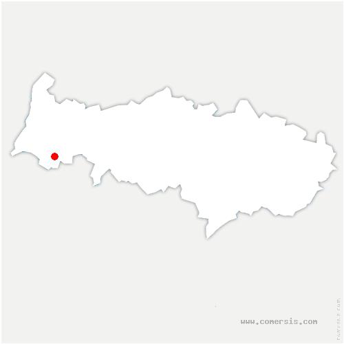 carte de localisation de Villers-en-Arthies