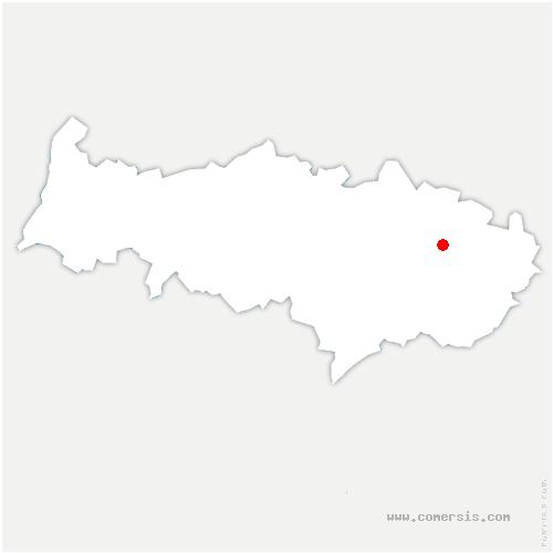 carte de localisation de Villiers-le-Sec